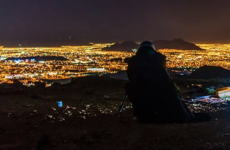 Sunset photography from atop Mount Uhud, Madinah, special thanks to Sayyid Abdulrahman as Safi for image